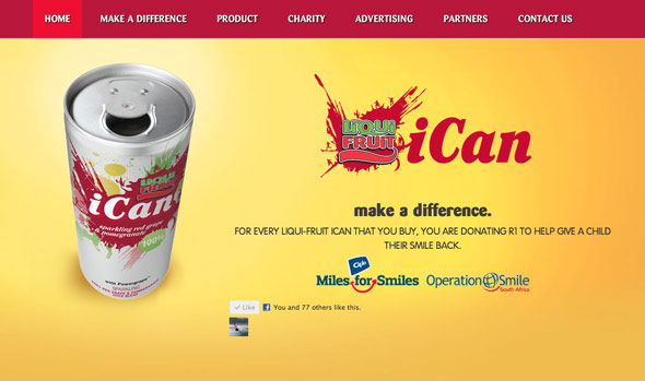 Liqui-Fruit iCan Home Page